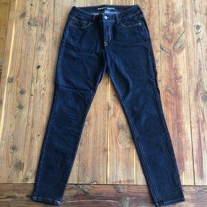 Old Navy Rockstar Mid Rise Dark Wash Denim Jeans